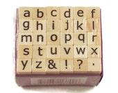Mini Alphabet Rubber Stamp Set  (ARS-7)