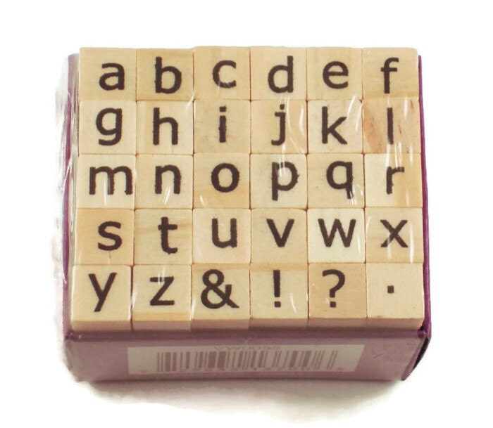 Mini Alphabet Rubber Stamp Set Ars 7