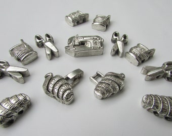 Vintage metal Beads for bracelet  sewing themed