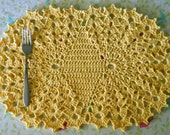 1913 Crocheted Butterfly Table Mat Pattern