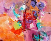 """ABSTRACT ORIGINAL ACRYLC Painting 24"""" X 24"""" wrap canvas Ready to hang  by Contemporary Artist Elizabeth Chapman"""