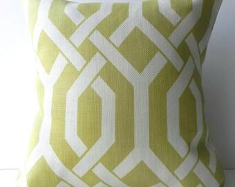 New 18x18 inch Designer Handmade Pillow Cases in citrine and cream