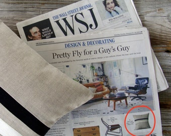 As seen in the Wall Street Journal: Black & Cream Striped Pillow - 16x16 - Modern Home Decor by JillianReneDecor | Black and White