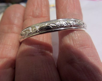 Mini-Bouquet Sterling Cuff for Newborns or One-Year-Olds