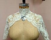 Lace Wedding Bolero- Choker Style -Custom Alencon Lace