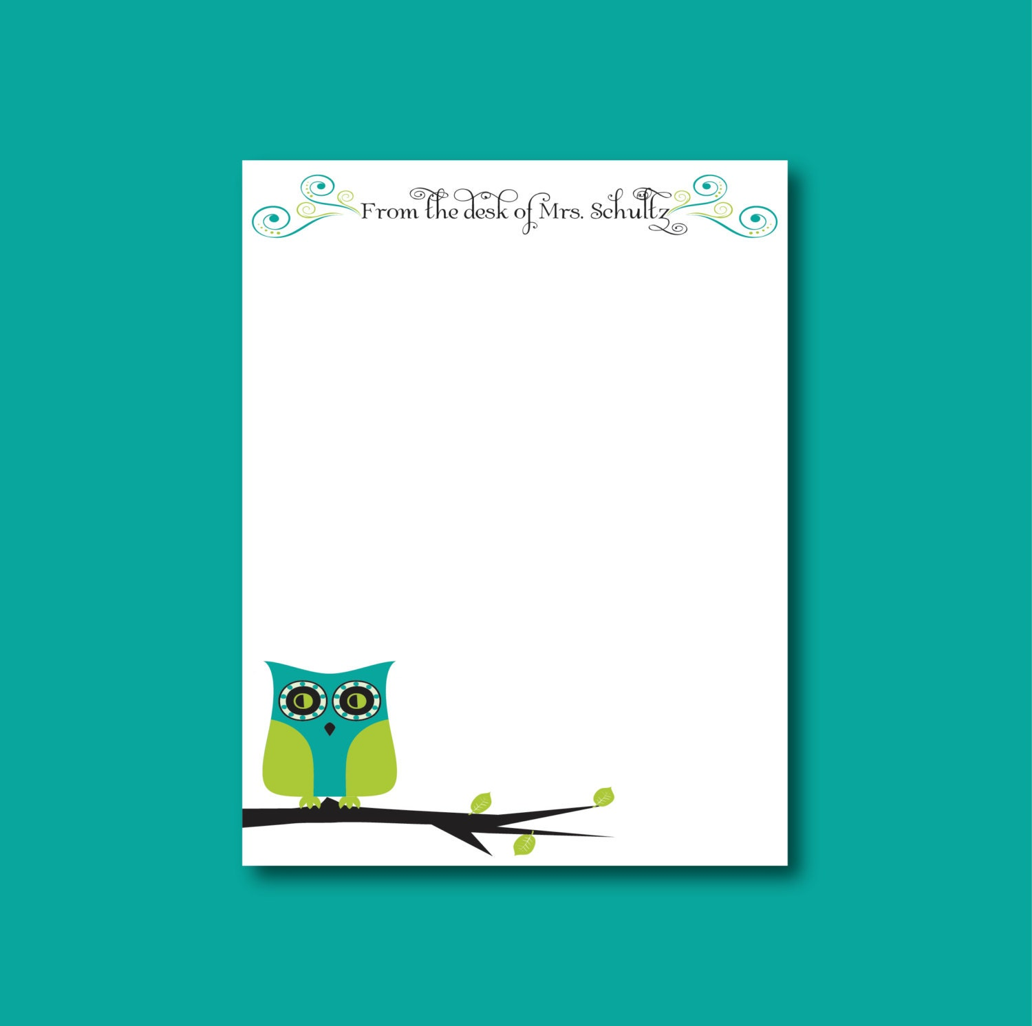 owl notepad from the desk of teacher gift stocking stuffer from the desk of teacher gift stocking stuffer 🔎zoom