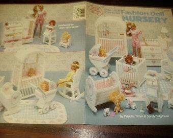 Plastic Canvas Patterns Fashion Doll Nursery American School of Needlework 3095 Pattern Leaflet