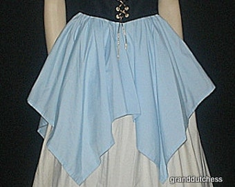 SHORT Jagged skirts...different sizes and colors you choose elastic waist custom