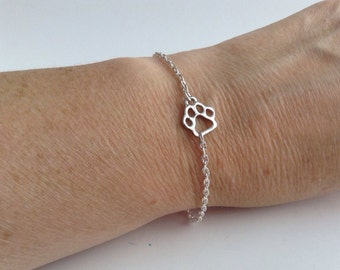 Paw Print Bracelet, ankle bracelet, anklet,