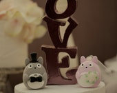 totoro cake topper---Custom Order Deposit for the lovely Wedding Cake Topper (K118)