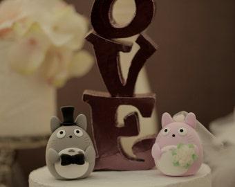 totoro cake topper---Custom Order Deposit for the lovely Wedding Cake Topper (K118)