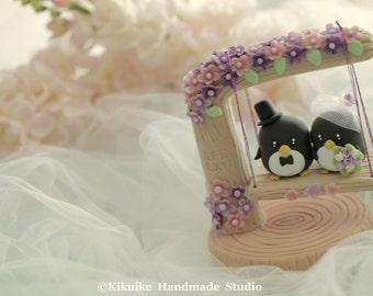 penguin Wedding Cake Topper (K426)