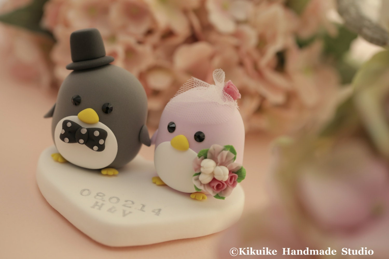 penguin cake toppers wedding penguins wedding cake topper k421 6441