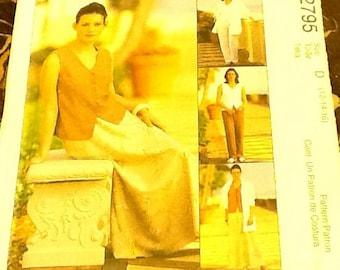 Sewing pattern, Petite jacket, shirt, top, skirt, pants, size 12-14