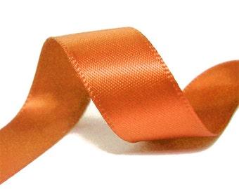 1/4 inch x 100 yds Single Face Satin Ribbon --COPPER