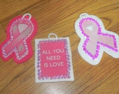 Breast Cancer Inspired Christmas Ornaments (not a licensed product)