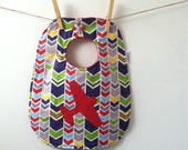 Chevron Airplane Baby Bib - Unique Baby Shower Gift