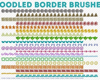 hand doodled borders and photoshop brushes