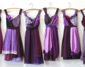 Custom Purple Bridesmaids Dresses