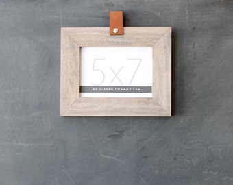 5x7 leather collection picture frame (natural sail rope finish) . 5x7 handmade picture frame