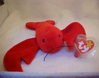 PRICE REDUCED! Ty Beanie Baby Pinchers the Lobster Original Thirteen no star tush tag