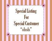 Reserved Listing for olssls