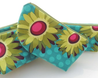 Floral Summer Zippered Pouch