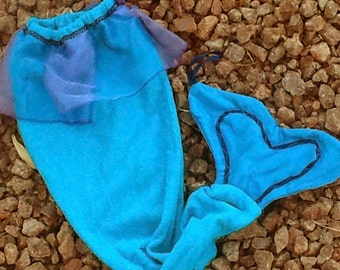 Mermaid Tail Towel In Turquoise and Purple