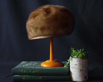 Vintage Andre Blonde Mink Fur Hat