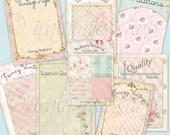 VINTAGE BUTTONS Collage Digital Images -printable download file-