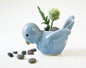 Antique Blue Bird Planter - Possibly McCoy