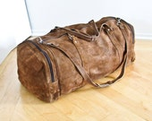 Leather Duffle Bag, Overnight Bag, Weekender , Mens  Travel Bag,  Luggage