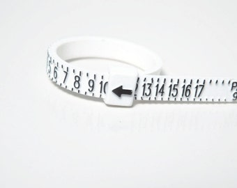 Reusable ring sizer / measure your finger / ring sizing tool / flexible ring sizer / easy to use sizer