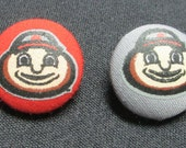 Ohio State Buckeyes Cloth Covered Brutus Button
