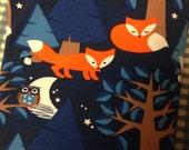 Lillestoff Night Fox Cotton Knit Fabric 1/2 Yard