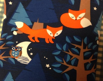 Lillestoff Night Fox Cotton Knit Fabric 1/2 Yard