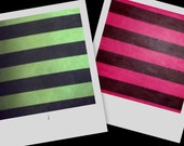 Lime Green or Pink Black Stripe Stretch Nylon Mesh Fabric BTY