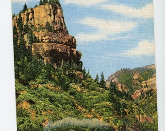 Glenwood Canyon, in scenic Colorado-79 vintage postcard, linen postcard