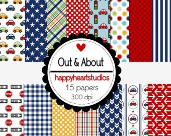 Digital Scrapbooking Out&About -INSTANT DOWNLOAD