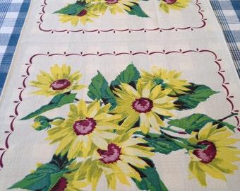Vintage Sunflower Table Runner