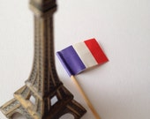 French flag party picks - cupcake picks