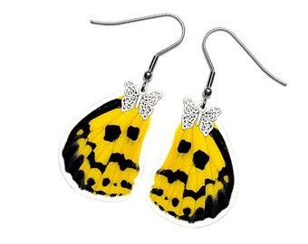Real Butterfly Wing Earrings (Militaris Hindwing - E031)