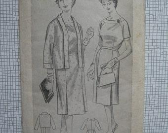 """1950s Dress & Jacket - 38"""" Bust - Weldons 7598 Sewing Pattern"""