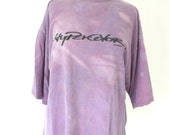 SALE Vintage 90's HYPERCOLOR Tshirt -Size XL, Purple to Pink with heat
