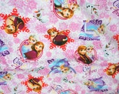 SPECIAL PRICE 1 meter Disney frozen fabric princess Anna Princess Elsa Olaf 100 cm by 106  cm or 30 by 42 inch