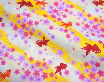 Beautiful Kimono Sakura and Koi fish  (n431)