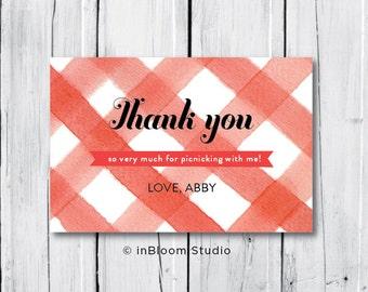 Picnic Party Printable Thank You Note
