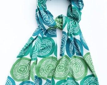Teal Scarf Green Scarf cotton Scarf Fashion Scarf Womens Scarf