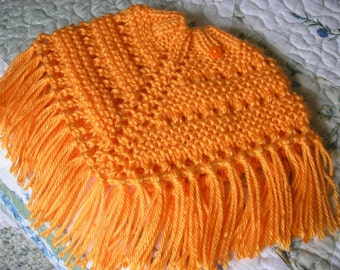 Knitted Poncho, Doll - Mango