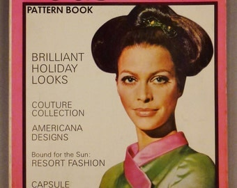 Vintage VOGUE Pattern Book Fashion DECEMBER 1967 JANUARY 1968  Rare great Condition Summer